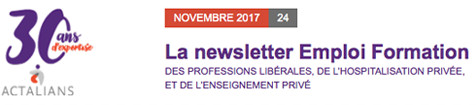 La Newsletter d'ACTALIANS (OPCA)