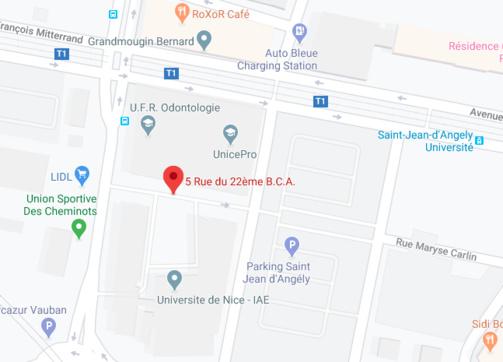 Informations et Plan d'accès Faculté de Nice
